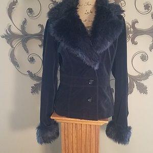 Beautiful fur collar jacket